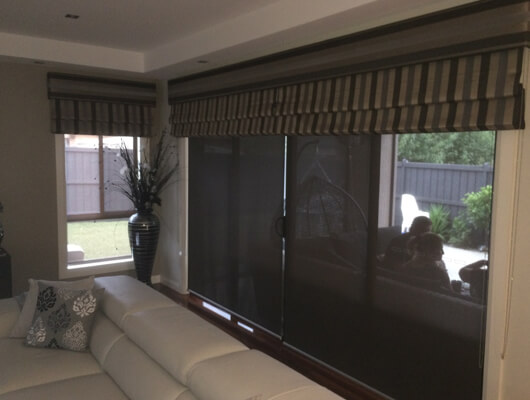 FABRIC ROMANS AND SCREEN BLINDS