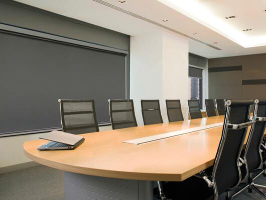 Ziptrak Interior Blind boardroom