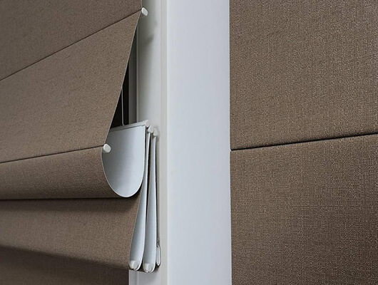 back batton roman blinds