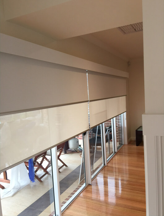 designer double roller blinds