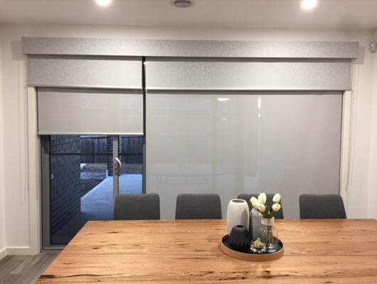 double blinds sliding door