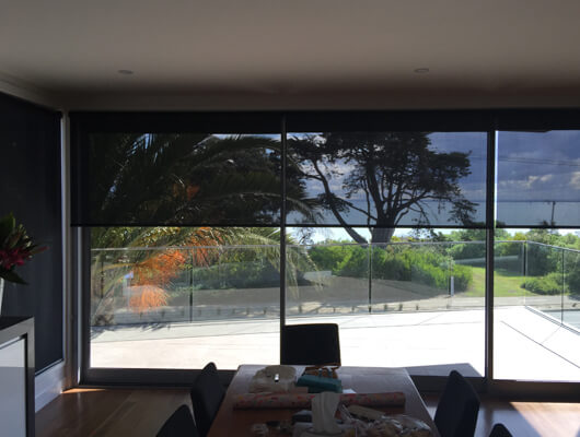sunscreen roller blinds with link system