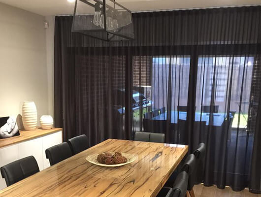 Black S Fold Sheer Curtains