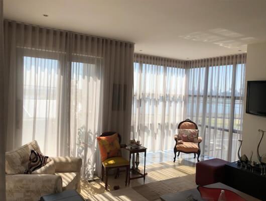 custom-made S fold sheer curtains