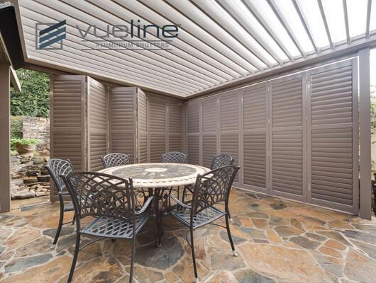 outdoor aluminium plantation shutters melbourne