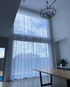 tall white sheer curtains